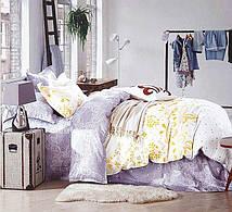 Очаровательное, практичное постельное белье сатин евро комплект сиреневый