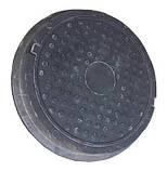 Люк полимерпесчаный черный (12.5 т.) 630/770, фото 2