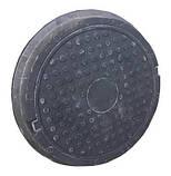 Люк полимерпесчаный черный (12.5 т.) 630/770, фото 4