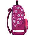 Рюкзак школьный каркасный с фонариками Bagland Успех 12 л. малиновый 593 (00551703), фото 3