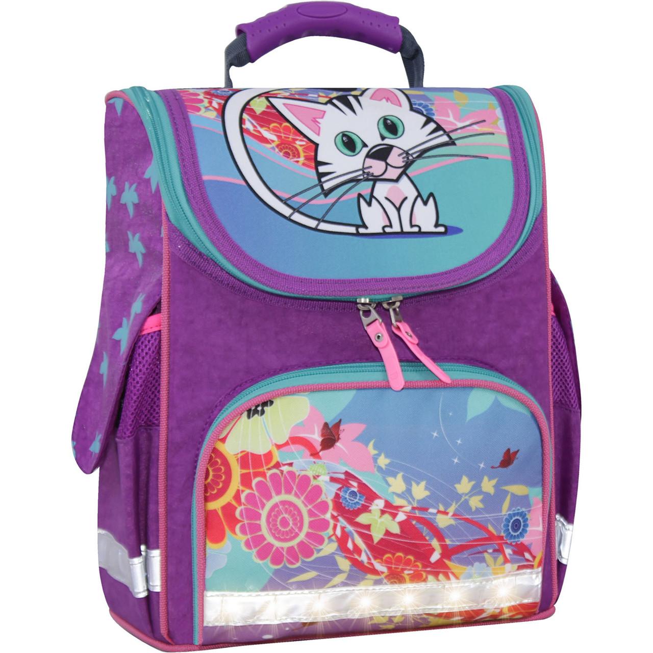 Рюкзак школьный каркасный с фонариками Bagland Успех 12 л. фиолетовый 502 (00551703)