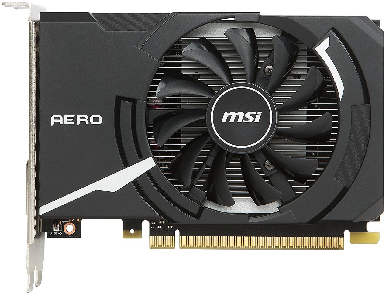 Відеокарта MSI GeForce GT1030 2GB DDR5 ITX OC (GF_GT_1030_AERO_ITX_2G_O)