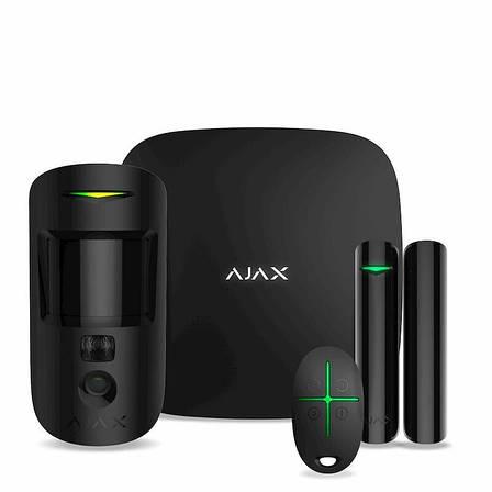 Комплект охранной сигнализации Ajax StarterKit Cam Черный, фото 2