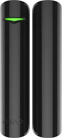 Датчик відкриття дверей/вікна з сенсором удару і нахилу Ajax DoorProtect Plus Чорний, фото 2