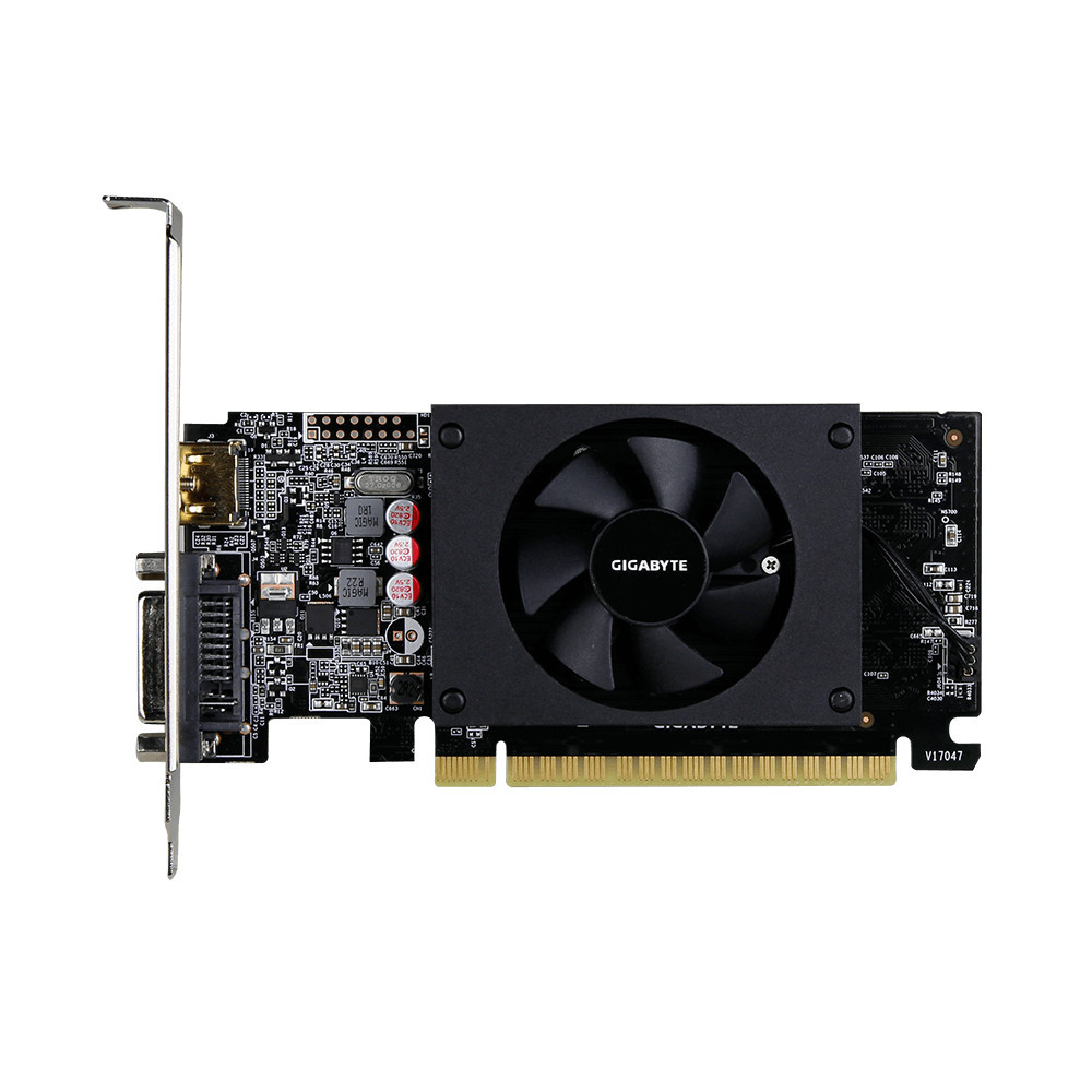Видеокарта Gigabyte GeForce GT710 1GB DDR5 64bit (GV-N710D5-1GL)