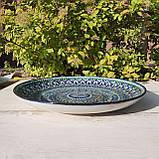 Тарелка для плова авторской росписи d 32 см. Узбекистан (133), фото 2