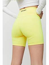 Спортивные шорты-велосипедки желтые ШЖ014, фото 3