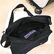 Сумка черная молодежная через плечо Сумка на грудь с карманами 223-03, фото 3