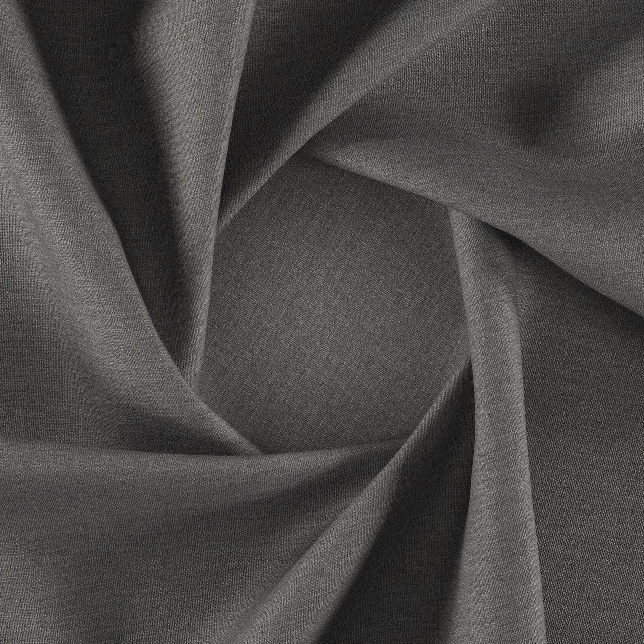 Натуральная рогожка для перетяжки мебели Кежуал (Casual) стального цвета