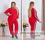 Комфортный спортивный костюм женский удлиненная кофта + брюки. р.50-52,54-56,58-60, 2 цвета 216Э, фото 2
