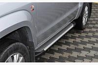 Боковые пороги Volkswagen Amarok Line (2 шт, алюм)