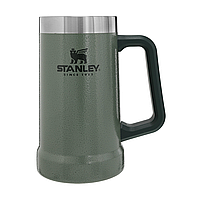 Термокружка пивная Stanley 0,7 л Adventure Stein Hammertone Green термочашка