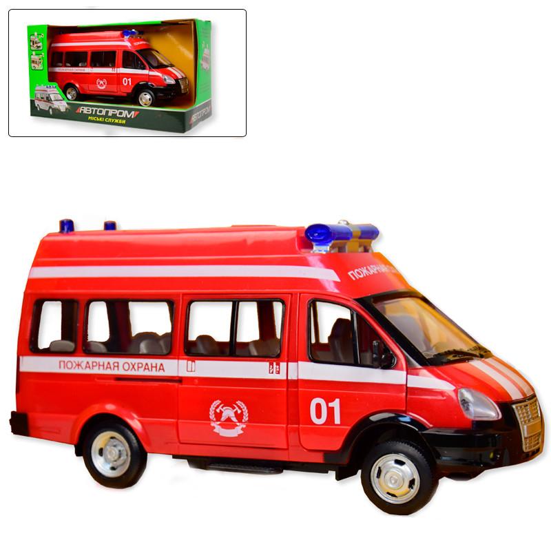 """Машина """"Пожарная служба"""" Автопром 7807, свет, звук"""