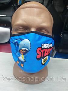 Защитная многоразовая маска с ярким принтом, универсальный размер
