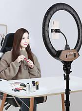 Кольцевая лампа светодиодное LED кольцо с креплением для телефона и штативом 2 м диаметр 45 см SLP G-600, фото 3