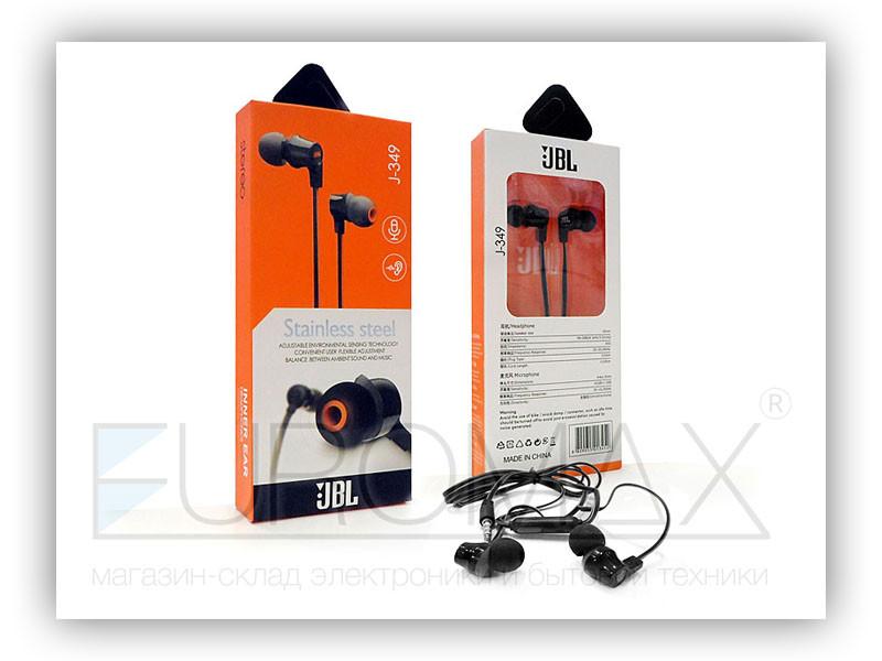 Наушники вакуумные с микрофоном 500шт J-349