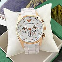 Часы наручные Emporio Armani AR-5905 Gold-White Silicone