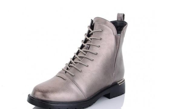 Ботинки женские бронзовый Lion- ZP826-2 зима