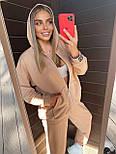 Жіночий спортивний костюм - штани, кофта з капюшоном і кишенею кенгуру з трехнитки (р. 40-54) 18051063, фото 2