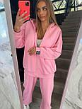 Жіночий спортивний костюм - штани, кофта з капюшоном і кишенею кенгуру з трехнитки (р. 40-54) 18051063, фото 6