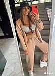 Женский спортивный костюм - штаны, кофта с капюшоном и карманом кенгуру из трехнитки (р. 40-54) 18051063, фото 4