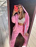 Жіночий спортивний костюм - штани, кофта з капюшоном і кишенею кенгуру з трехнитки (р. 40-54) 18051063, фото 3