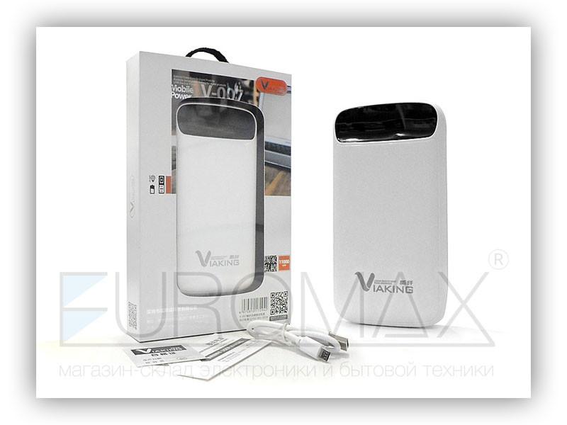 Внешний аккумулятор (power bank) VIAKING 11000мАч (9000мАч) 100шт V-007