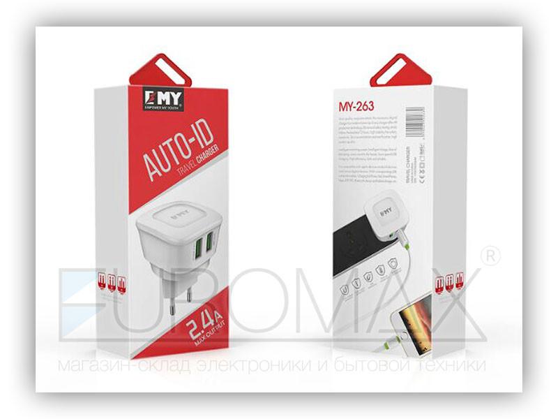 Зарядное устройство Empower My Youth 220В 2USB MY-263