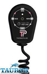 Чёрный регулятор на вилке (димер) ThermoPulse Black: 3 режима + таймер 3 ч. + LED. Мощность до 400 Вт. Украина