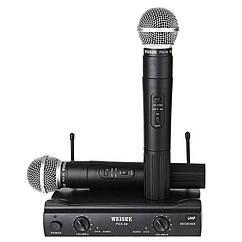Беспроводной микрофон SHURE UT4 / PGX-58 двухантенная база с 2-х беспроводных микрофонов UT-24 / SM58II