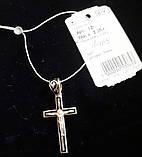 """Серебрянный подвес """"Крест-Спаси и Сохрани"""", эмаль, орнамент, фото 2"""