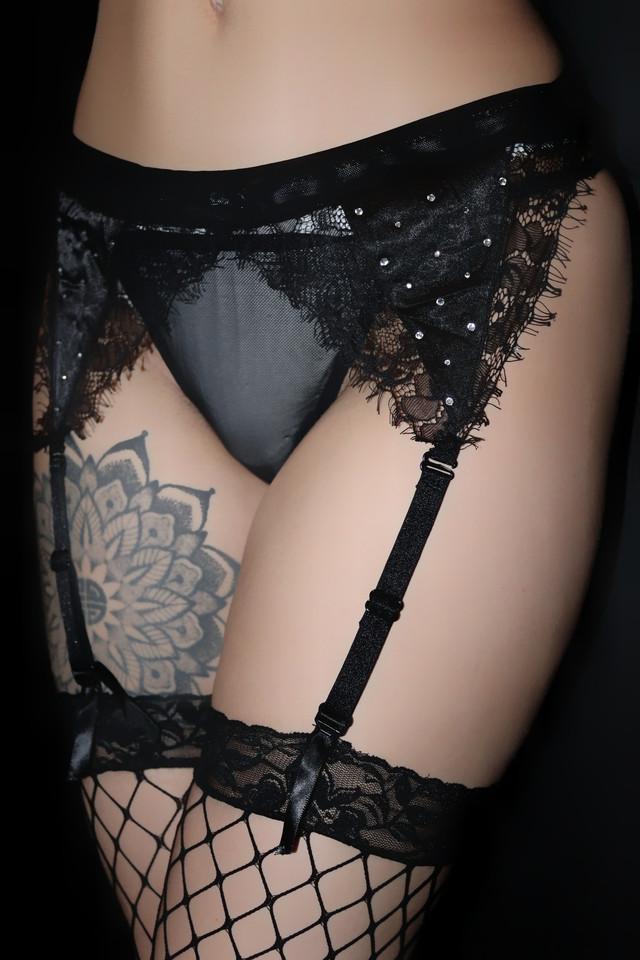черный комплект сексуального белья, эротическое женское белье для секса, пояс для чулок, пояс для чулков, трусики, чулки черные в сетку