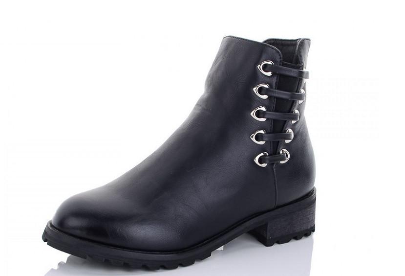 Ботинки женские черные Lion-ZP1809-1 зима