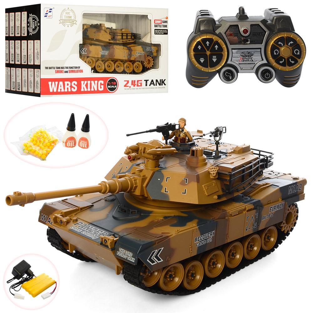 Радиоуправляемый танк Wars King 789-1, стреляет пулями и пускает дым