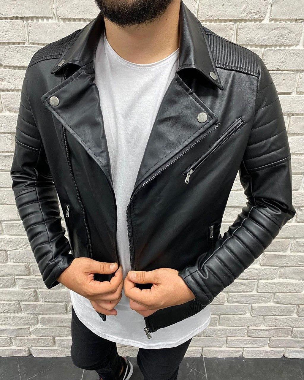 Мужская косуха черная MV-02
