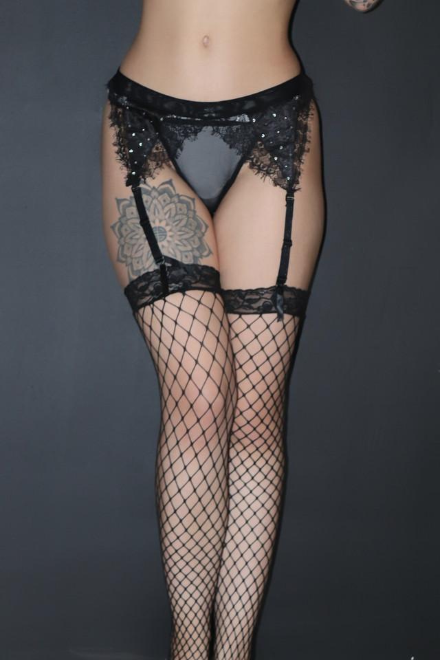 секс белье для женщин чулки сетка пояс с подтяжками стринги с прозрачной сетки черные