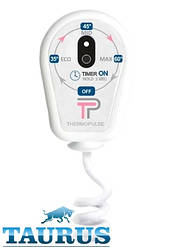 Білий регулятор на вилці (димер) ThermoPulse White: 3 режими + таймер 3 ч. + LED; Потужність до 400 Вт. Україна