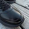 Чорні кросівки Adidas Shark еко шкіряні демисезон Адідас Шарк копія Жіночі, фото 5