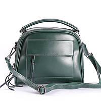 """Женская кожаная сумка зеленая """"Элизавет Green"""", фото 1"""