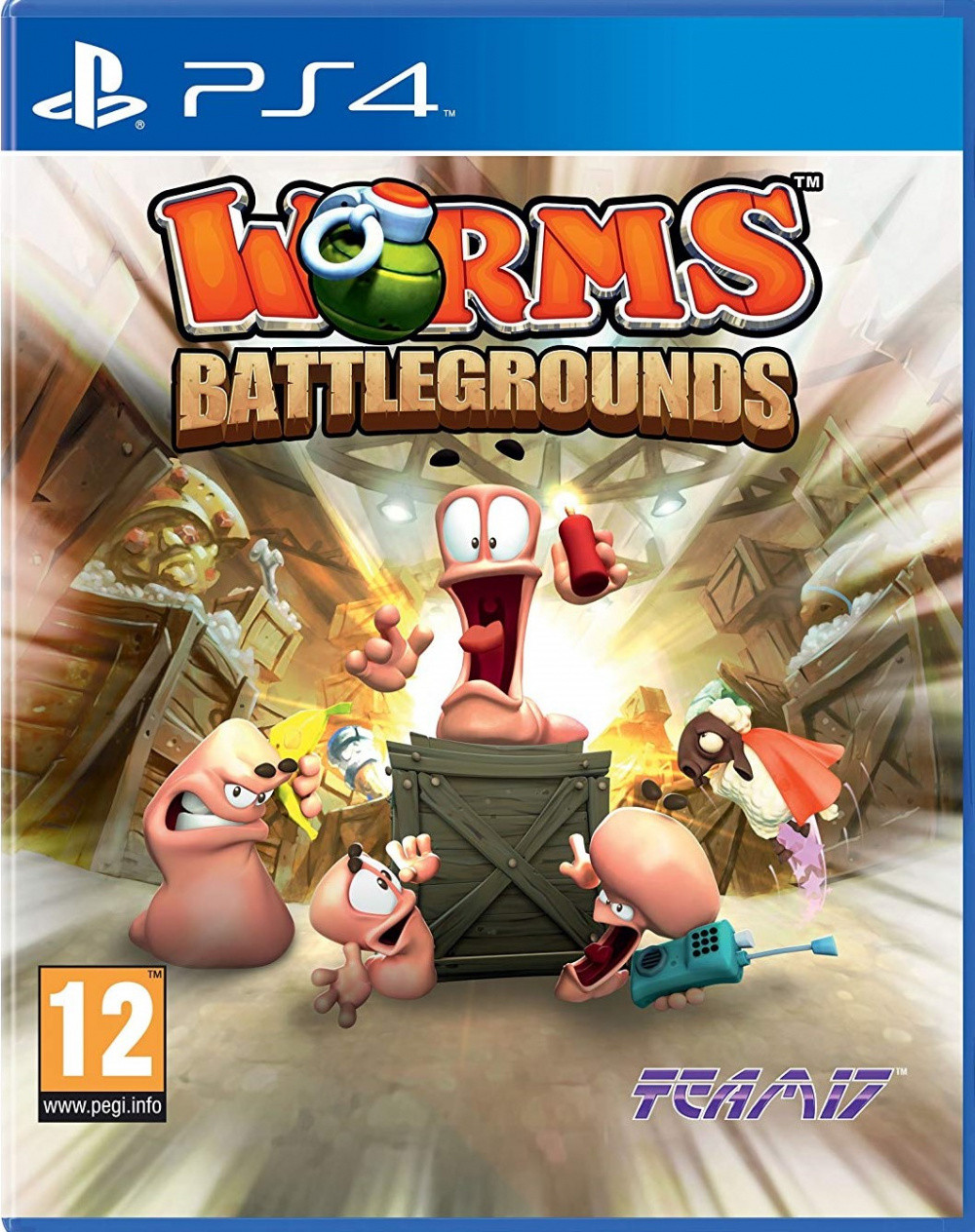 Worms Battlegrounds (англійська версія) PS4