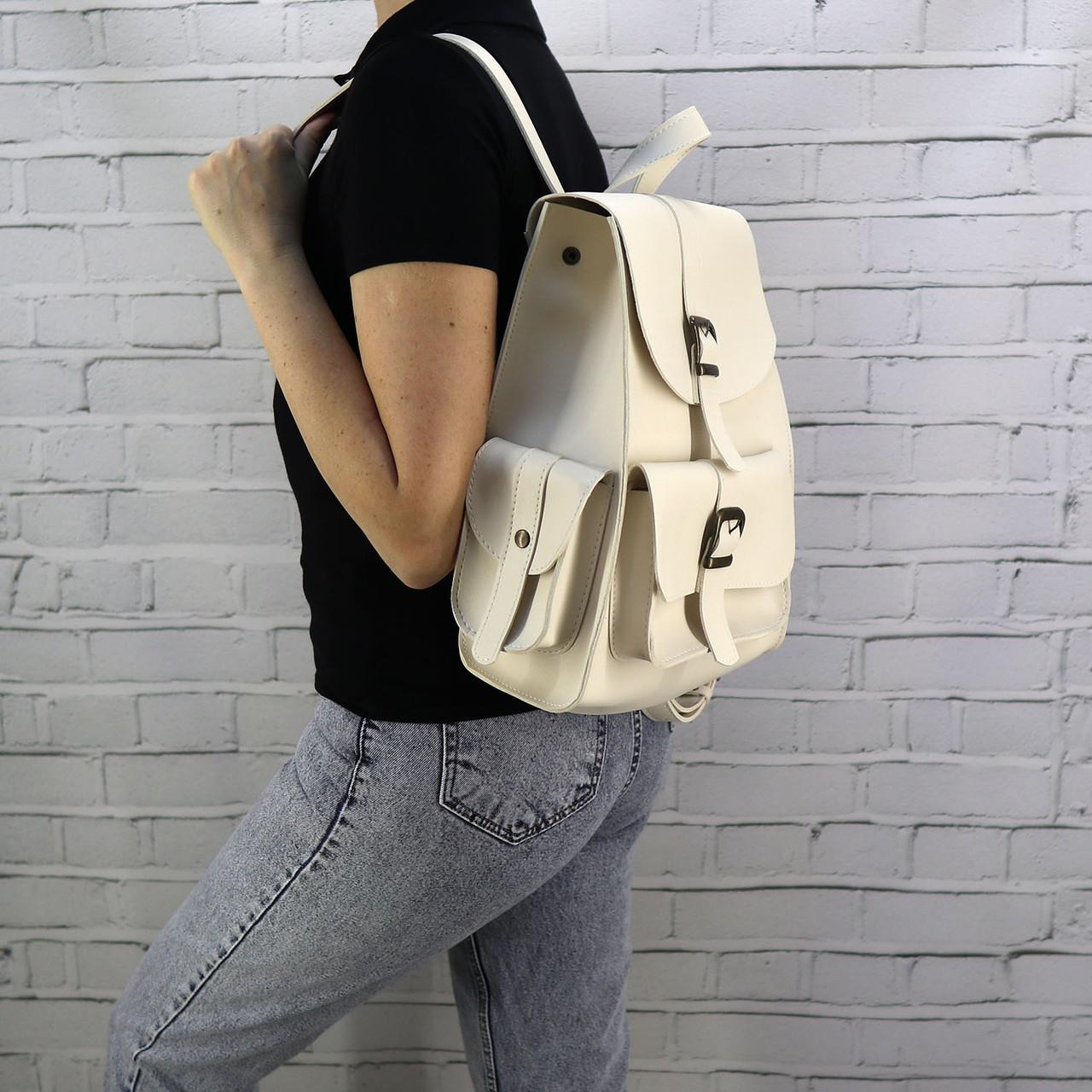 Рюкзак женский graf бежевый из эко кожи