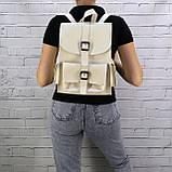 Рюкзак женский graf бежевый из эко кожи, фото 3