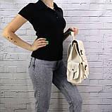 Рюкзак женский graf бежевый из эко кожи, фото 5