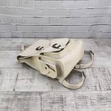 Рюкзак женский graf бежевый из эко кожи, фото 6