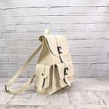 Рюкзак женский graf бежевый из эко кожи, фото 8