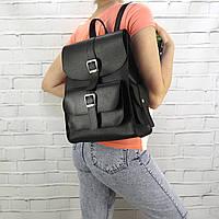 Рюкзак женский graf черный из натуральной кожи saffiano