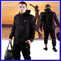 Куртка мужская, стильная ветровка с капюшоном, куртка спортивная анорак Nike, Мужская одежда. Реплик