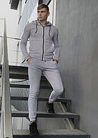 Костюм мужской спортивный Cosmo серый Кофта толстовка + штаны + Подарок, фото 1