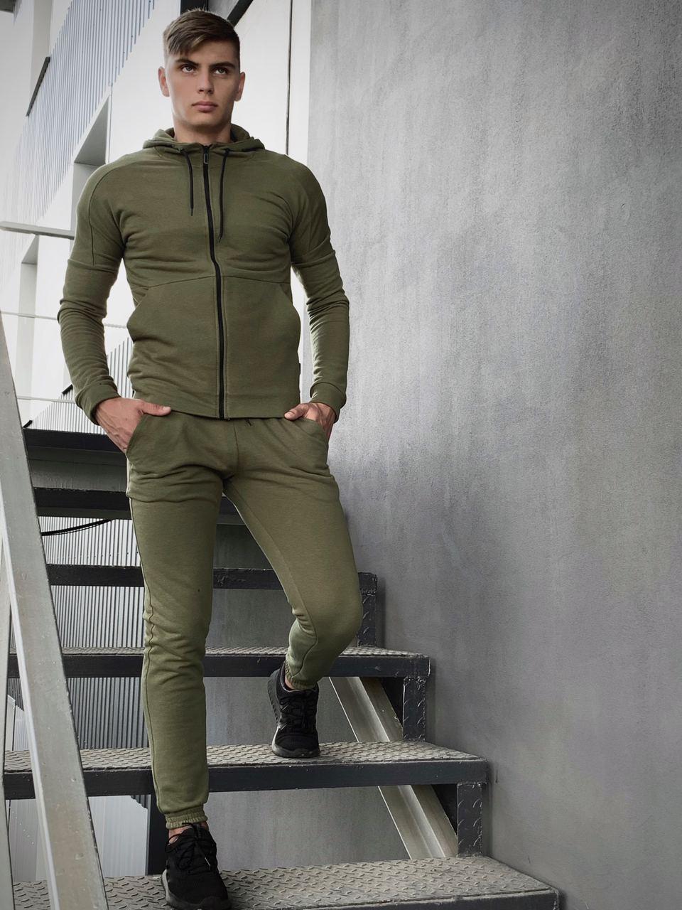 Костюм мужской спортивный Cosmo хаки Кофта толстовка + штаны + Подарок