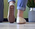Мокасины женские бежевые перламутровые, мягкие и удобные эко кожа, фото 4